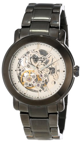 Kenneth Cole New York Women's KC4778 Automatic Skeleton Gunmetal Ion-Plated Analog Bracelet Watch