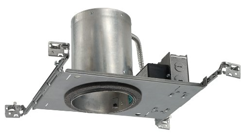 Juno Lighting Ic20Led-3K Universal Round Ic Rated 5-Inch Air-Loc Led Downlight Housing, 3000K