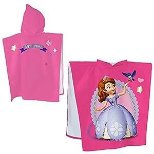 Disney Princess - Princesita Sofía - poncho niña con capucha 60 x 120 cm por Whitehouse