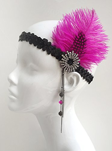 Handcrafted-Gatbsy-Feather-and-Sequined-Headpiece-Flapper-Headpiece-Womens-Headband
