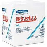 Kimberly-Clark 34865 WYPALL X60 Wipers, 1/4-Fold, 12 1/2 x 13, White, 76/Box, 12/Carton