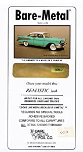 Bare Metal Foil Gold Bare Metal Foil Model Car Truck Kit Adhesive