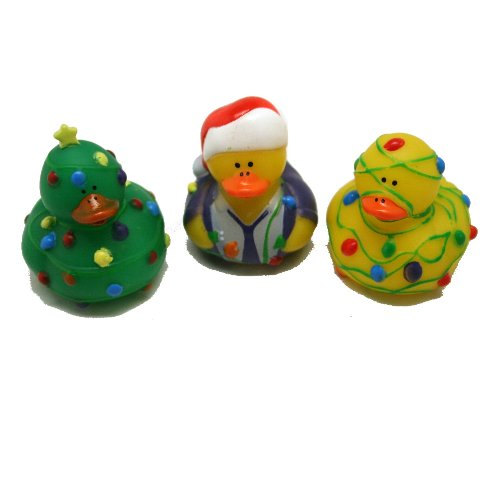 12 ct - Tangled Christmas Lights Rubber Duckys - 1