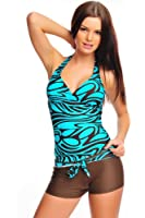 Women`s noble Push Up Tankini with Hotpants, two pieces, (flav-1001-f2472)
