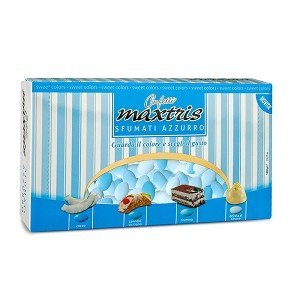Assortiment bleu dragées amandes en quatre saveurs