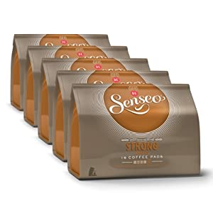 Senseo Strong / Dark Roast, New Design, Pack of 5, 5 x 16 Coffee Pods