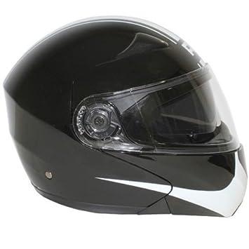 Casque moto modulable ADX M1 - Double écran - Noir / Blanc