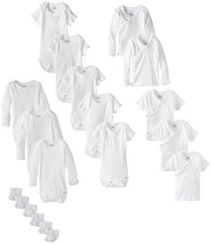 Gerber Unisex Newborn Essentials Gift Set, White, 0-3 Months, 19 Piece