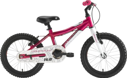 Adventure 160 Girl's Mountain Bike - Pink/White, 16 Inch