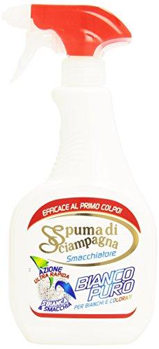 Spuma di Sciampagna - Smacchiatore, Bianco Puro, Pre-Trattante, per Bianchi e Colorati , 500 ml