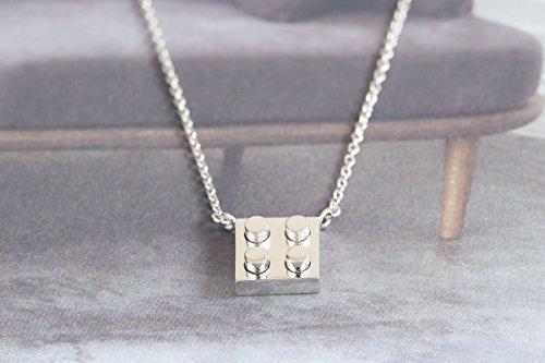 925 Lego blocks Necklace