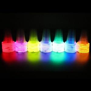 72 Glow Stick Party Cups (16-18 oz) by USglow Laboratories