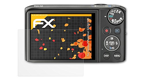 3 x atFoliX Schutzfolie Canon PowerShot SX260 HS Displayschutzfolie - FX-Antireflex blendfrei
