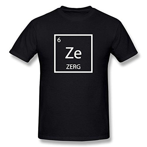 MZONE Men's Starcraft 2 Legacy Of The Void Zerg Logo Cool Tee Size XL Black