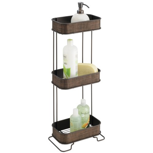 InterDesign Twillo 3-Tier Shelf, Bronze