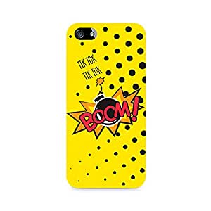 Motivatebox- Boom Premium Printed Case For Apple iPhone 5/5s -Matte Polycarbonate 3D Hard case Mobile Cell Phone Protective BACK CASE COVER. Hard Shockproof Scratch-