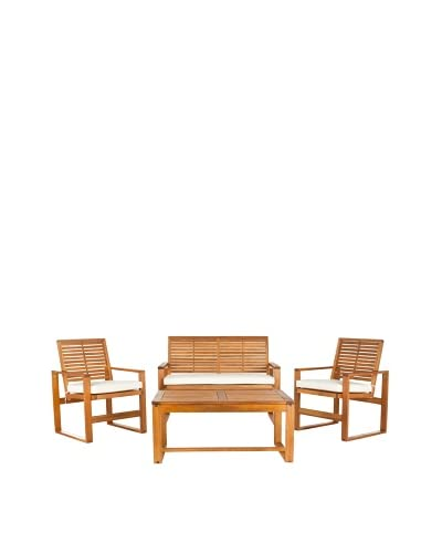 Safavieh Outdoor Collection Ozark 4 Piece Wicker Patio Set