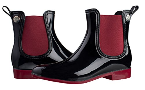 Silky Toes Women's Comfort Rain Boots (41, Red) (Stylish Rain Boots compare prices)