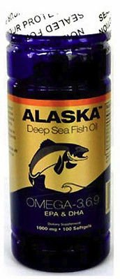 2 X100 Alaska Fish Oil Omega-3,6,9 Dha/Epa/Flaxseed Oil Good Product