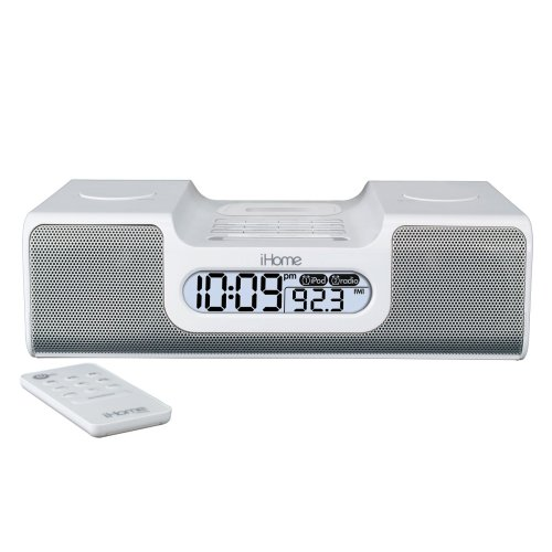 ihome Dock: iHome iH8 Clock Radio for iPod (White) Discount