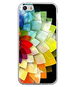 Multi Colour Flower Pattern 2D Hard Polycarbonate Designer Back Case Cover for Apple iPhone 5