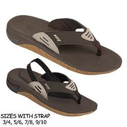 Reef Slap Sandal - Toddler Boys\' Brown, 3.0/4.0