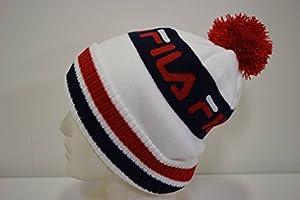 (フィラ)FILA ニット帽 ニット 帽子 メンズ レディース ユニセックス/113225/防寒対策 スポーツ スポーティー 暖かい帽子 アウトドア ウィンタースポーツ アウトドア 秋冬(ホワイト)
