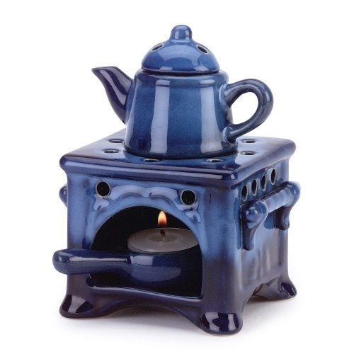 Mini Candle Stove: Country Kitchen Ceramic Kettle Stove Oven Oil Warmer