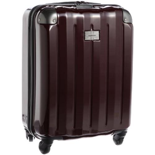 [カンゴール] KANGOL KANGOL UNION キャビンサイズ カーボン調ファスナーキャリーケース 250-5054 43 (カーボンワイン)