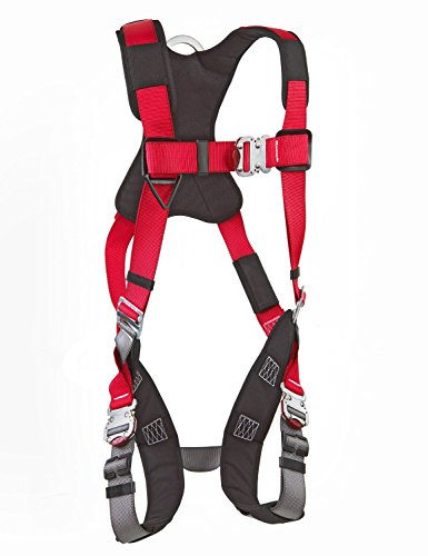 3M Protecta 1191261 Fall Protection Full Body Harness, With 3 D-Ring's, Quick Connect Buckle Legs, 420 Pound Capacity, Size XL, Red/Gray (Fall Harness Xl compare prices)