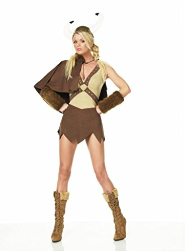 Leg Avenue Womens Viking Cape Outfit Fancy Dress Sexy Costume