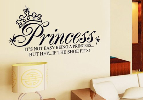 Home Decor Decals Poster House Wall Stickers Quotes Removable Vinyl Large Wall Sticker For Kids Rooms Stickers Mirror Stickers Princess W-274 front-367033