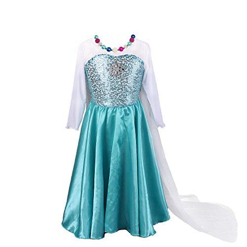 Pettigirl Little Girls' Snowflakes Dress Gift Set (Dress+Necklace+Bracelet) 4 Y