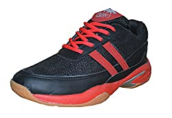 Port Winbul Black Badminton Shoes( size 9 ind/uk)