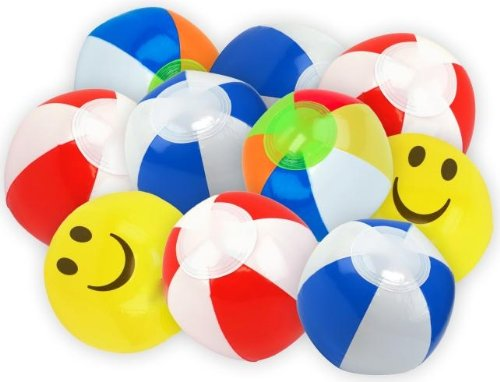 Rhode Island Novelty Mini Beach Inflatable 5 Beach Balls 2-Pack of 25