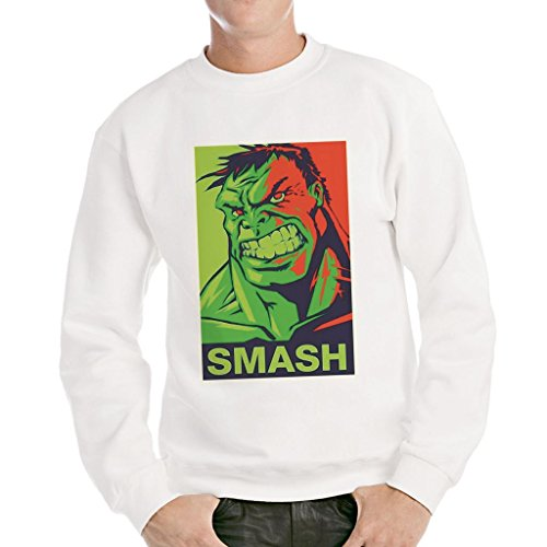 Felpa girocollo HULK SMASH - FILM by MUSH Dress Your Style - Uomo-XXL-BIANCA