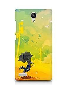 Amez designer printed 3d premium high quality back case cover for Xiaomi Redmi Note Prime (Abstract Multicoloured Digital Art)