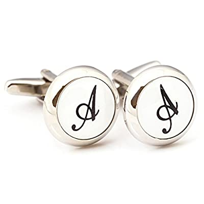 Digabijewelry Initial Cufflinks (Alphabet Letter) by Men's Collections