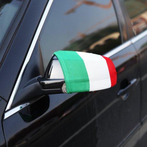 Tera® Paire de Protection / Housse/couverture de retroviseur voiture  exterieur en motif de drapeau pour FIFA Coupe du Monde 2014, tournois de  tennis,