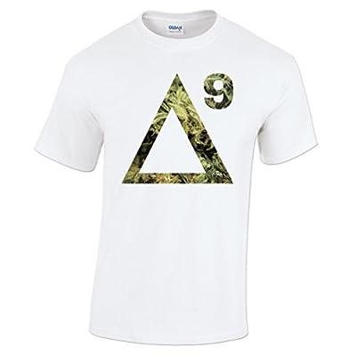 Delta 9 THC Cannabis Marijuana Molecule Mens T-Shirt
