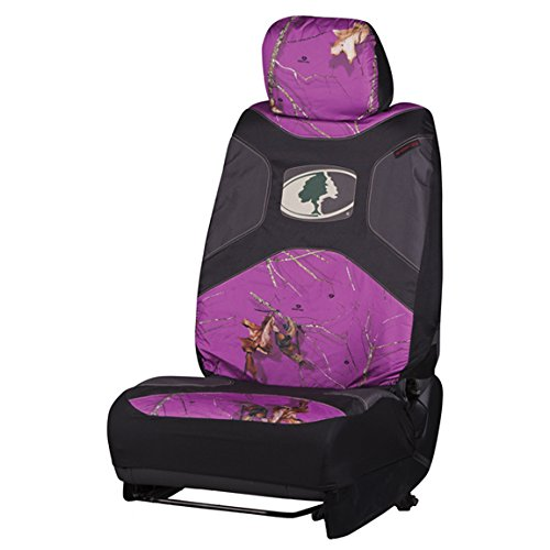 Mossy Oak Purple Camo Low-Back Bucket Seat Cover (Mossy Oak Country Roots Camo, Durable Microfiber Fabric, Includes One Seat Cover and One Headrest Cover, Sold Individually) (Funny Car Seat Covers compare prices)