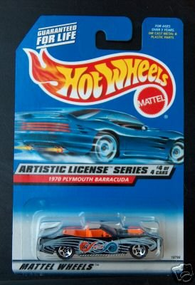 Mattel Hot Wheels 1998 1:64 Scale Artistic License Series Black 1970 Plymouth Barracuda Die Cast Car 4/4 - 1