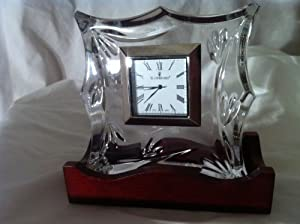 "Waterford Crystal ""Bamboo"" Pattern Clock Made in Germany"