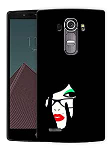 "Minimal Girl Art Printed Designer Mobile Back Cover For ""LG G4"" By Humor Gang (3D, Matte Finish, Premium Quality, Protective Snap On Slim Hard Phone Case, Multi Color)"
