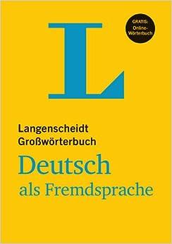 langenscheidts grossworterbuch deutsch als fremdsprache langenscheidts gros. Black Bedroom Furniture Sets. Home Design Ideas