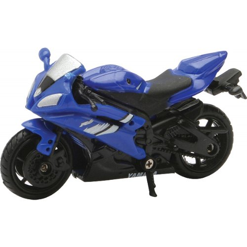New Ray Yamaha 2006 YZF-R6 Replica Motorcycle Toy - Blue / 1:32 Scale