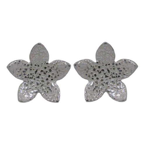 Handmade Patterned 925 Sterling Silver Petals Stud Earrings - FREE Delivery in UK Gift Wrapped Gifts