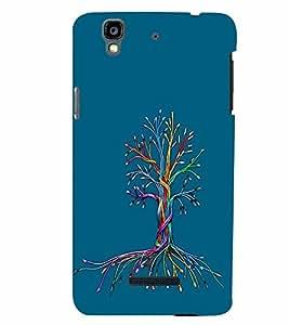 PrintVisa YUREKA-Cute Cartoon Tree Plastic Back Cover (Multicolor)