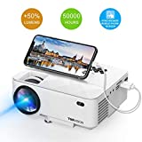 Mini Projector, T TOPVISION 2400Lux Projector with Synchronize Smart Phone Screen, Supported 1080P, 176