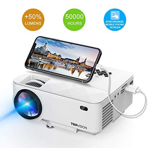 Mini Projector, T TOPVISION 2400Lux Projector With